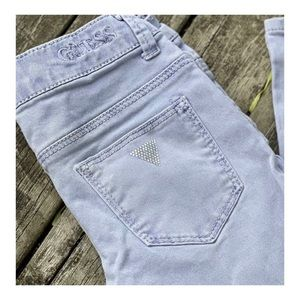 Guess Lilac Jeans Foxy Skinny Low Rise Bedazzled